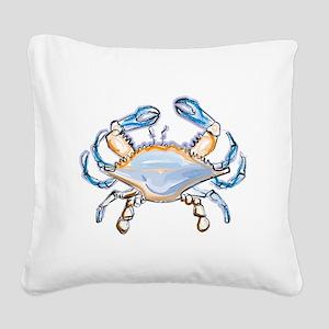 Colorful crab art Square Canvas Pillow