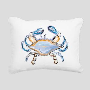 Colorful crab art Rectangular Canvas Pillow