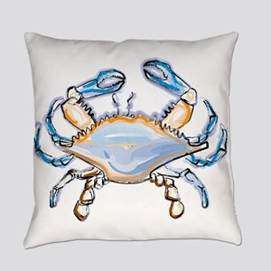 Colorful crab art Everyday Pillow