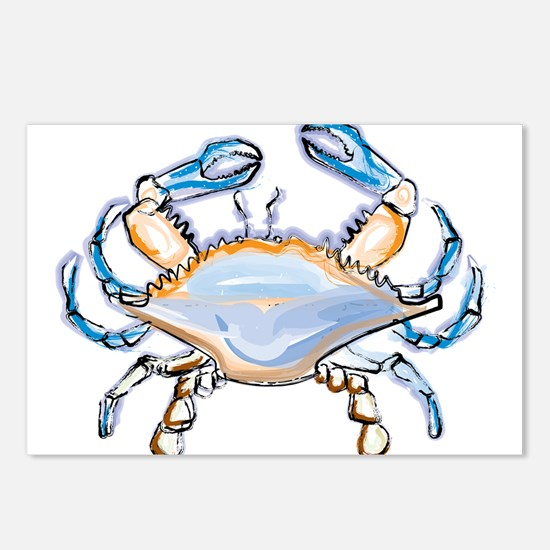 Colorful crab art Postcards (Package of 8)