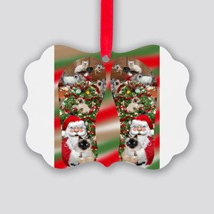 Ragdoll Cats Enjoying Christmas Ornament