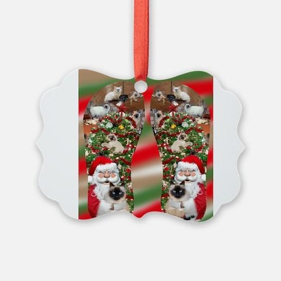 Ragdoll Cats Enjoying Christmas Ornament
