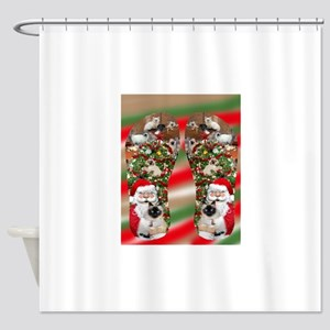 Ragdoll Cats Enjoying Christmas Shower Curtain