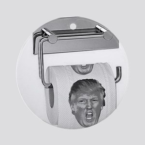 Trump TP Design Round Ornament