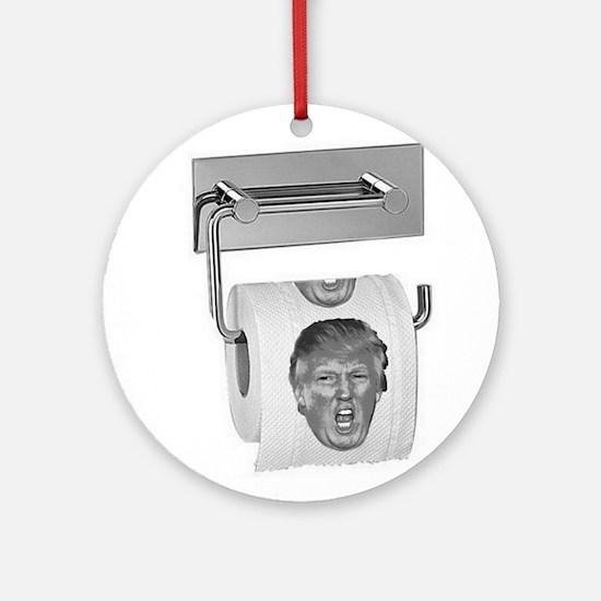Trump TP Design Round Ornament