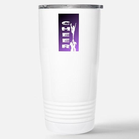 Purple cheerleader Stainless Steel Travel Mug
