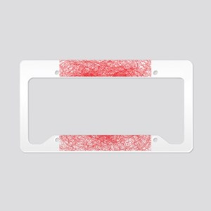 Heart shaped red line License Plate Holder