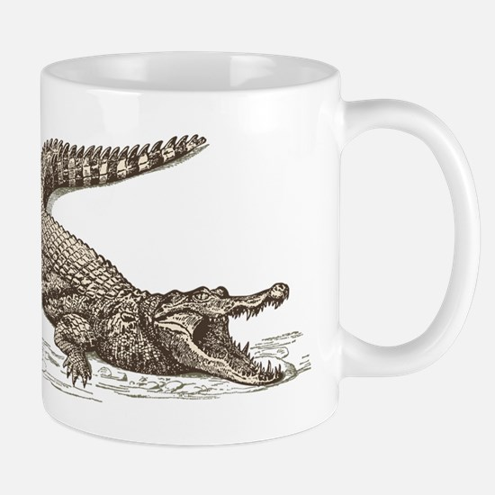 Hand painted animal crocodile Mugs