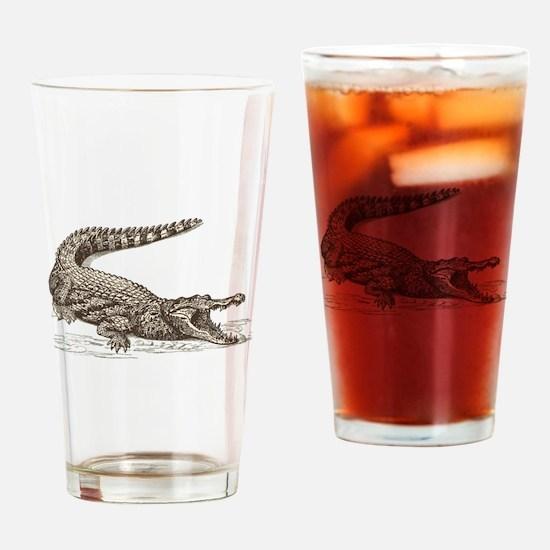 Hand painted animal crocodile Drinking Glass