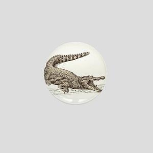 Hand painted animal crocodile Mini Button