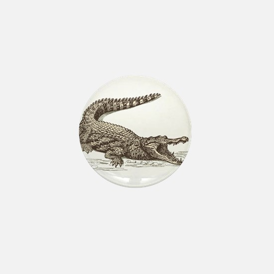 Hand painted animal crocodile Mini Button