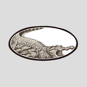 Hand painted animal crocodile Patch