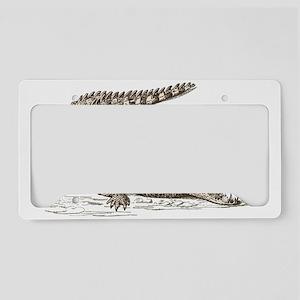 Hand painted animal crocodile License Plate Holder