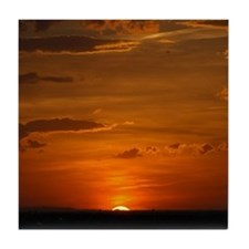 Fiery Prairie Sunset Tile Coaster