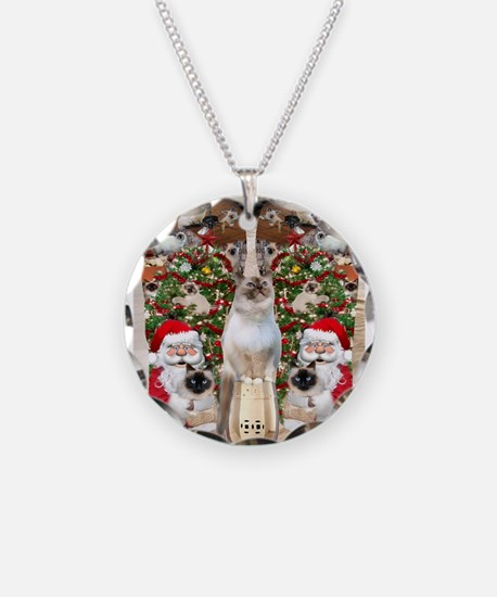 Ragdoll Cats for Christmas Necklace