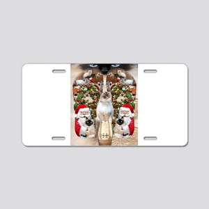 Ragdoll Cats for Christmas Aluminum License Plate