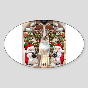 Ragdoll Cats for Christmas Sticker
