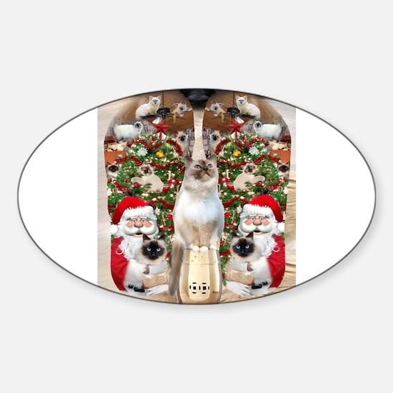 Ragdoll Cats for Christmas Decal