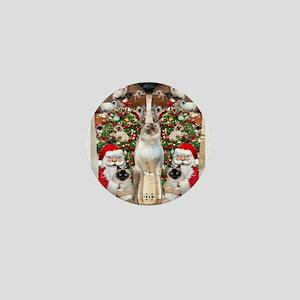 Ragdoll Cats for Christmas Mini Button