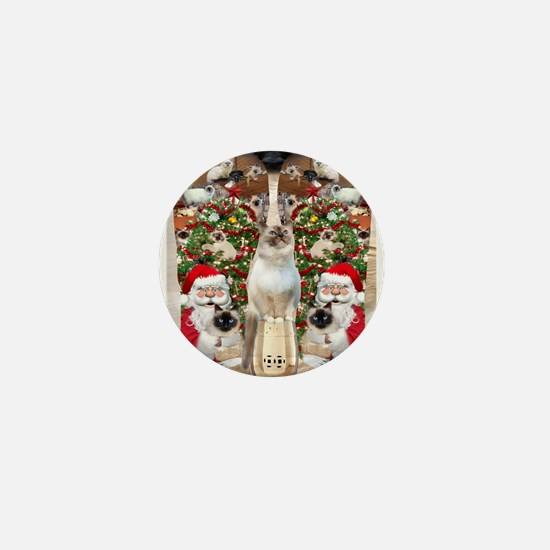Ragdoll Cats for Christmas Mini Button