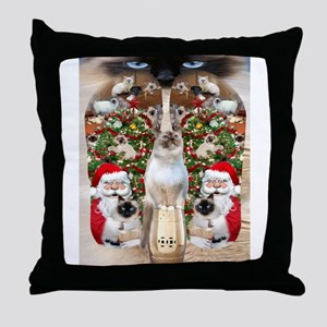 Ragdoll Cats for Christmas Throw Pillow