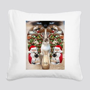 Ragdoll Cats for Christmas Square Canvas Pillow