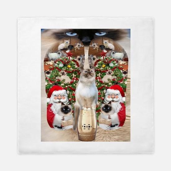 Ragdoll Cats for Christmas Queen Duvet