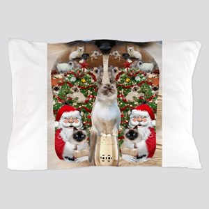 Ragdoll Cats for Christmas Pillow Case