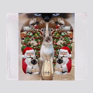 Ragdoll Cats for Christmas Throw Blanket