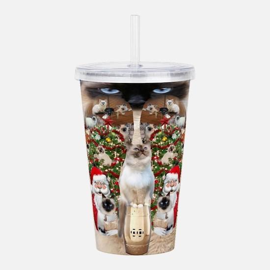 Ragdoll Cats for Christmas Acrylic Double-wall Tum