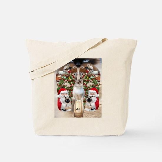 Ragdoll Cats for Christmas Tote Bag
