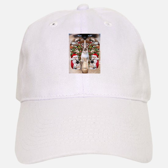 Ragdoll Cats for Christmas Baseball Baseball Baseball Cap