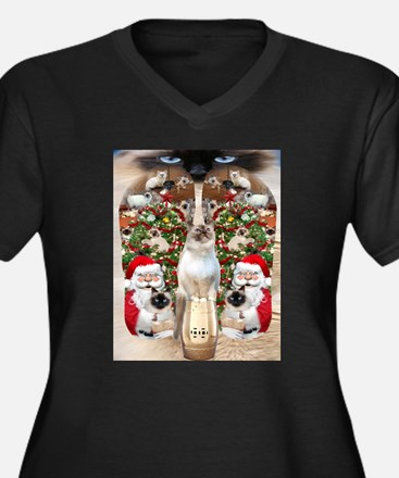 Ragdoll Cats for Christmas Plus Size T-Shirt