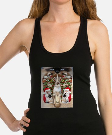 Ragdoll Cats for Christmas Racerback Tank Top