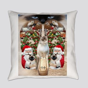 Ragdoll Cats for Christmas Everyday Pillow