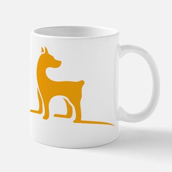 Simple dog logo design Mugs