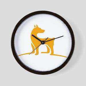Simple dog logo design Wall Clock