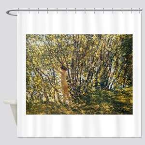 Hassam - Nude In A Sunlit Wood Shower Curtain