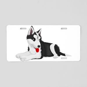 Cute dog art Aluminum License Plate