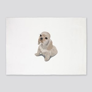 Cute little puppy 5'x7'Area Rug
