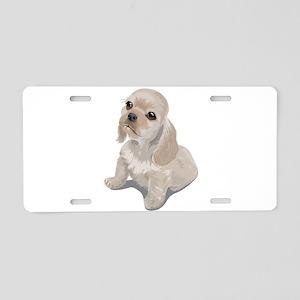 Cute little puppy Aluminum License Plate