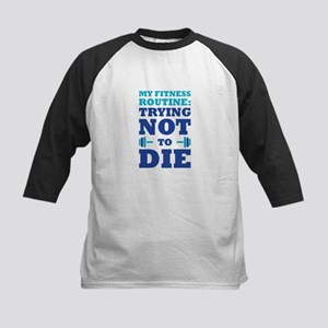 Trying Not To Die Baseball Jersey
