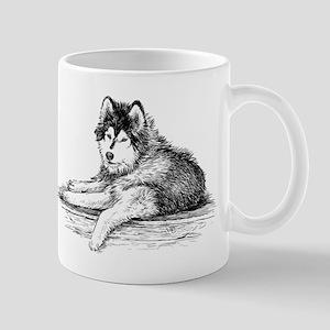 Hand drawn huskies dog Mugs