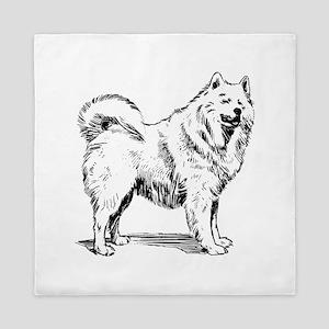Samoyed dog Queen Duvet