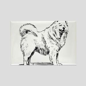 Samoyed dog Magnets