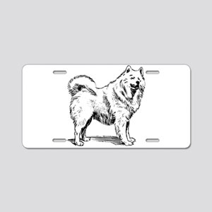 Samoyed dog Aluminum License Plate