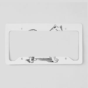 Samoyed dog License Plate Holder