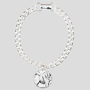 Samoyed dog Charm Bracelet, One Charm