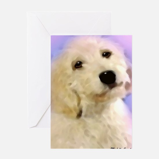 Cute Birthday dogs goldendoodle Greeting Card