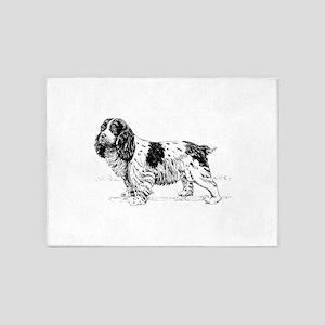 Spaniel dog 5'x7'Area Rug